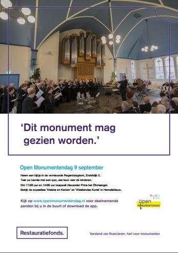 Open Monumentendag 9 september